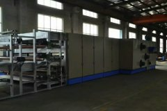 Spray bonded wadding production line